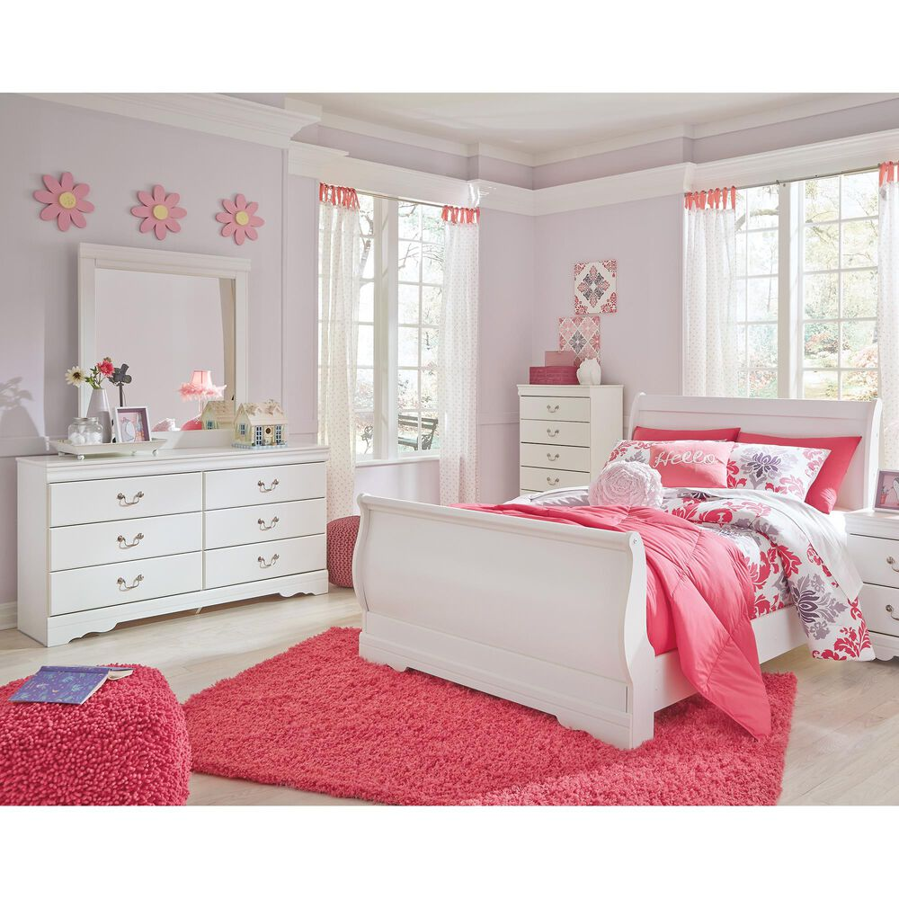 Signature Design by Ashley Anarasia 4-Piece Full Bed Room Set in White, , large