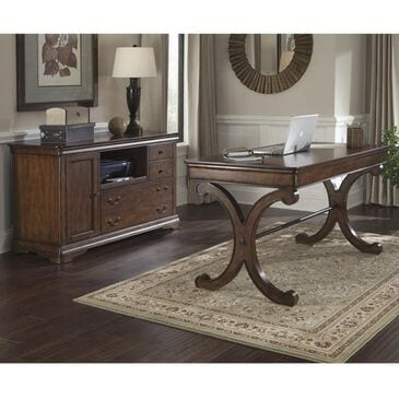 Belle Furnishings Brookview Writing Desk and Credenza in Rustic Cherry, , large