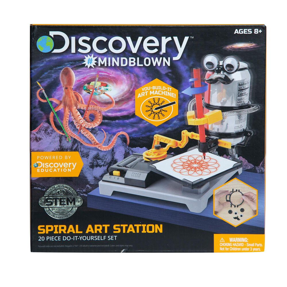 Discovery Mindblown Kids DIY Spiral Art Station, , large