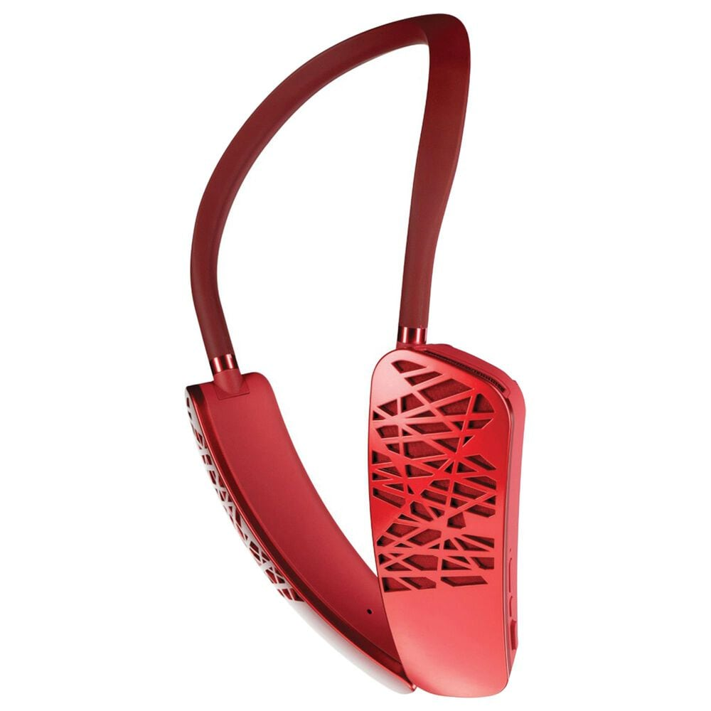 Cleer Halo Smart Wearable Bluetooth Neck Speaker with Google Assistant in Red, , large