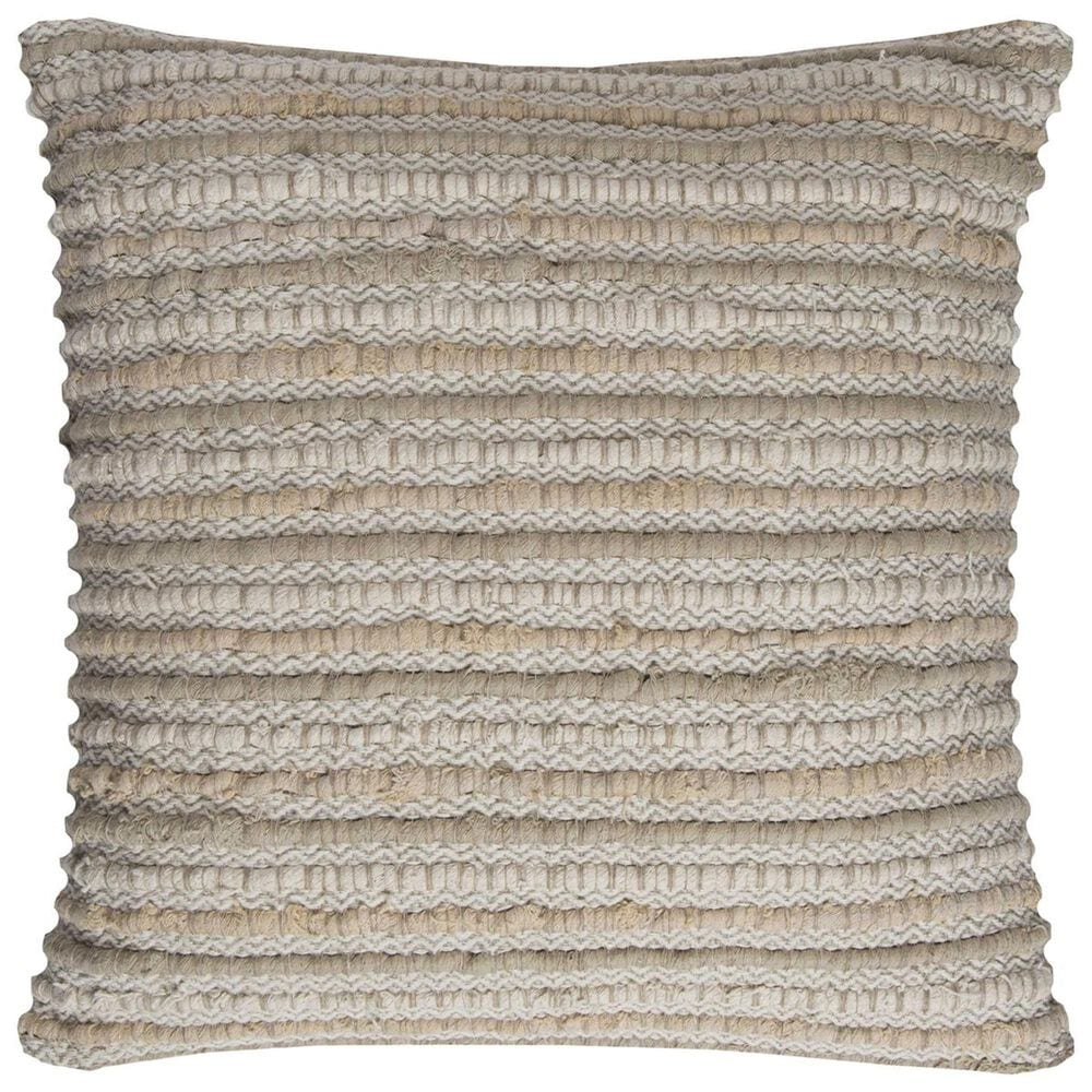 """Rizzy Home 20"""" x 20"""" Pillow Cover in Neutral Tan, , large"""