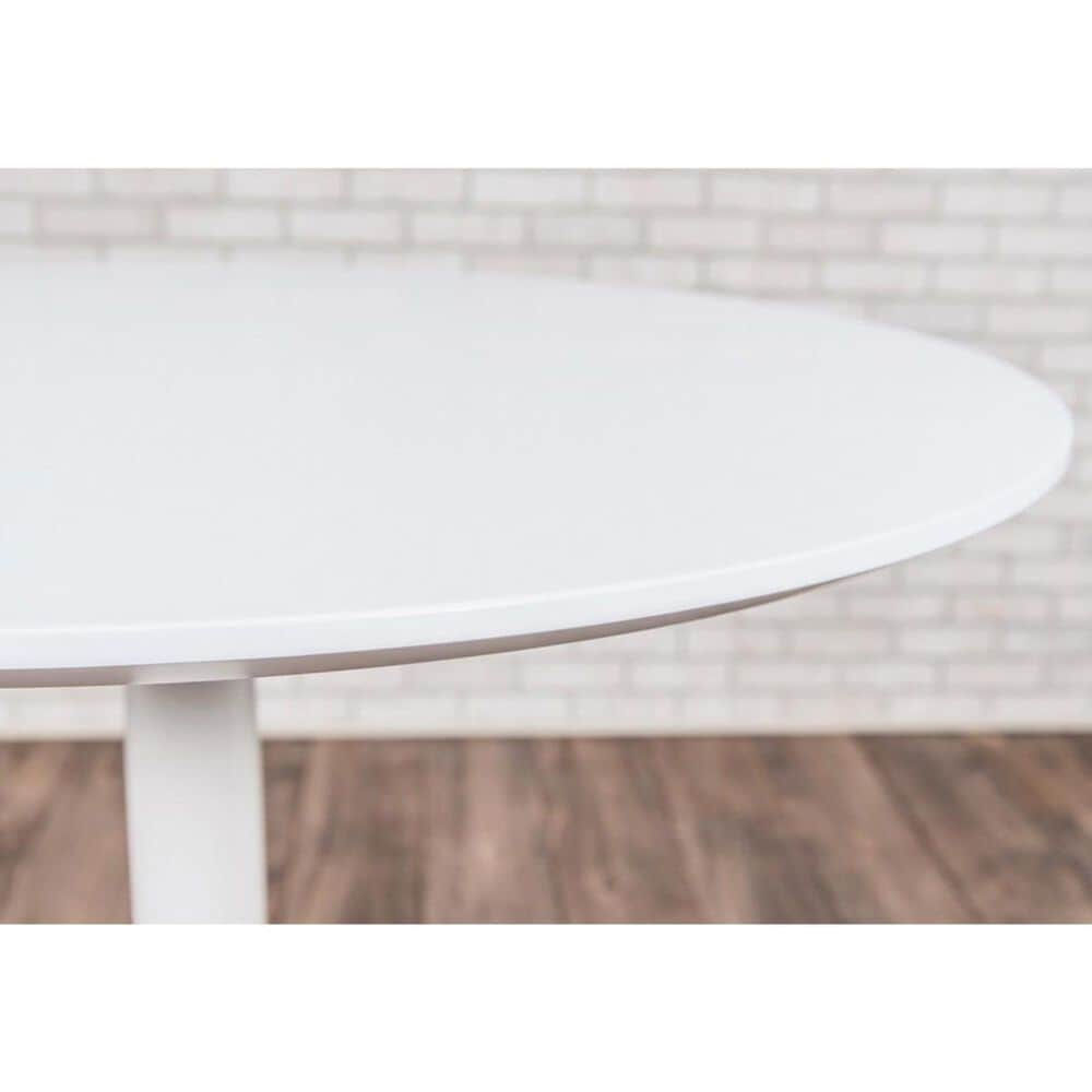 """Luxor 32"""" Pneumatic Adjustable Cafe Table in White, , large"""