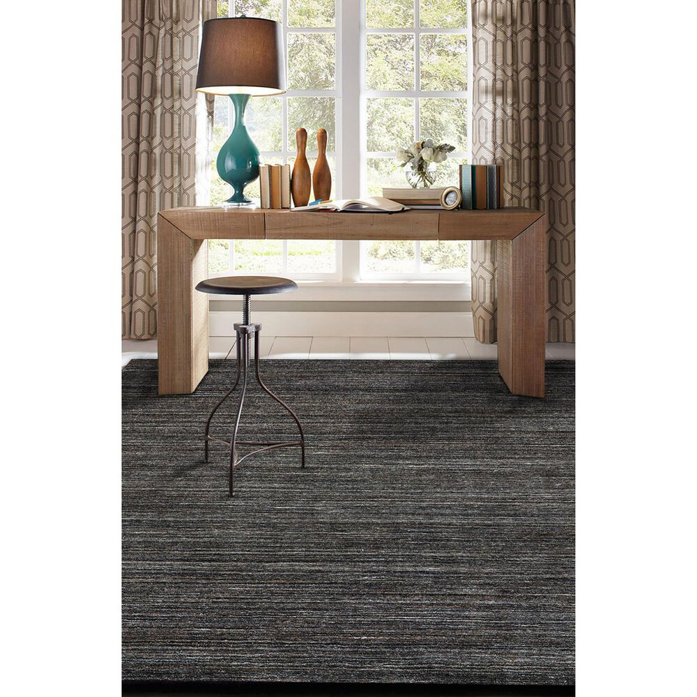 Capel Burke 3496-355 8' x 11' Charcoal Area Rug, , large