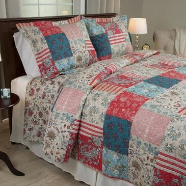 Timberlake 3 -Piece King Mallory Quilt Set in Beige and Cream, , large