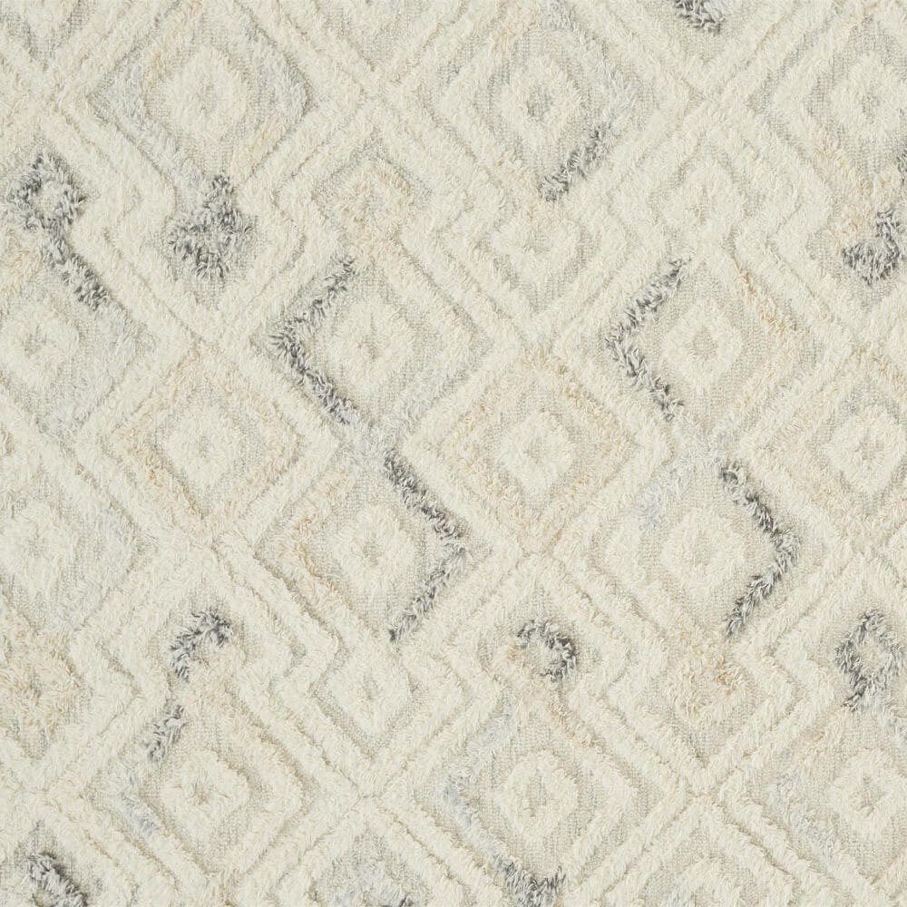 Feizy Rugs Anica 8004F 9' x 12' Ivory and Blue Area Rug, , large