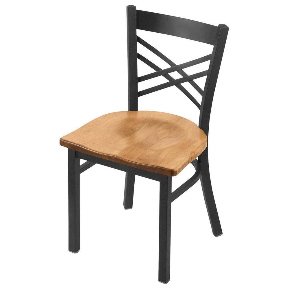 """Holland Bar Stool 620 Catalina 18"""" Chair with Pewter and Medium Maple Seat, , large"""