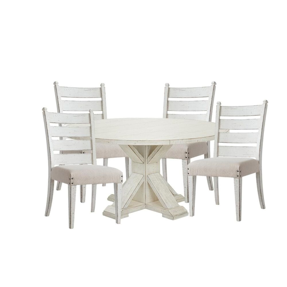 Trisha Yearwood Home Collection Coming Home 5-Piece Dining Set in Chalk, , large