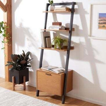Safavieh Lavina 3-Shelf Etagere in Natural and Charcoal, , large