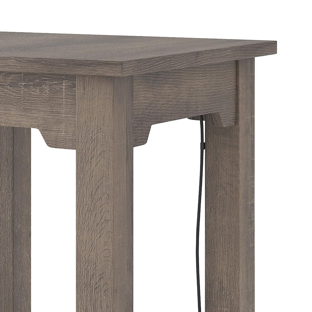 Signature Design by Ashley Arlenbry Chair Side End Table with USB Ports in Weathered Oak, , large