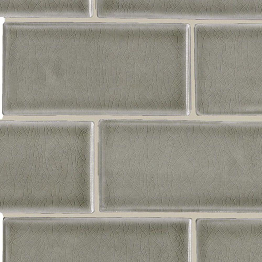 "Soci Chateau Brick Fog 12"" x 12"" Ceramic Mosaic Sheet, , large"