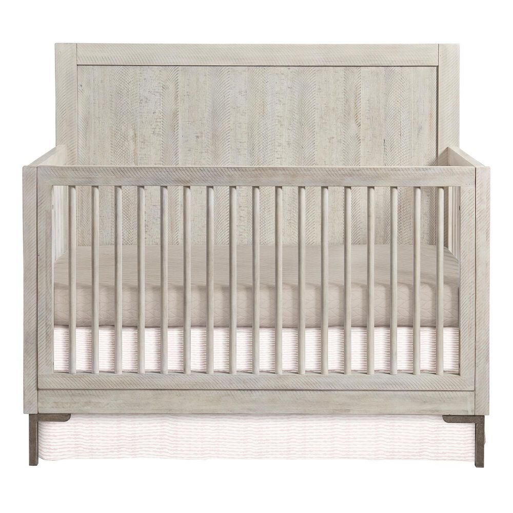 Eastern Shore Beck Convertible Raised Back Panel Crib in Willow, , large