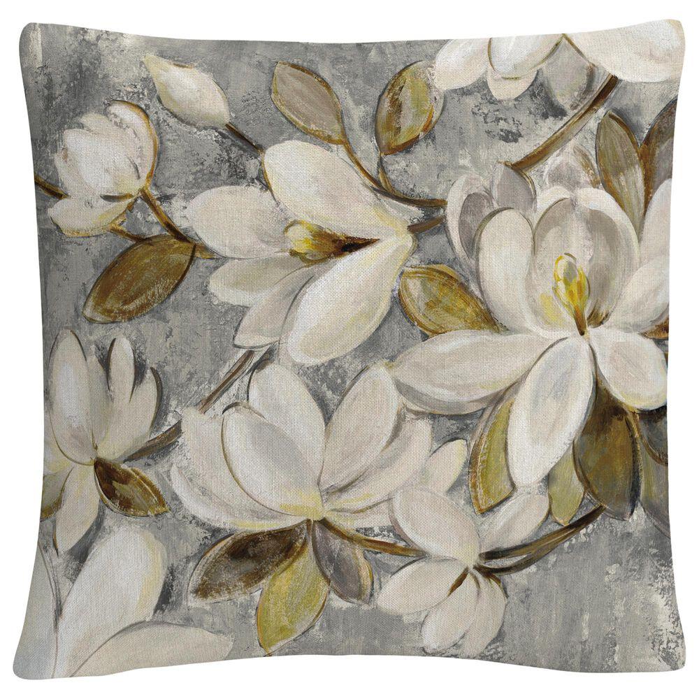 Timberlake Silvia Vassileva 'Magnolia Simplicity Neutral Gray' 16 x 16 Decorative Throw Pillow, , large