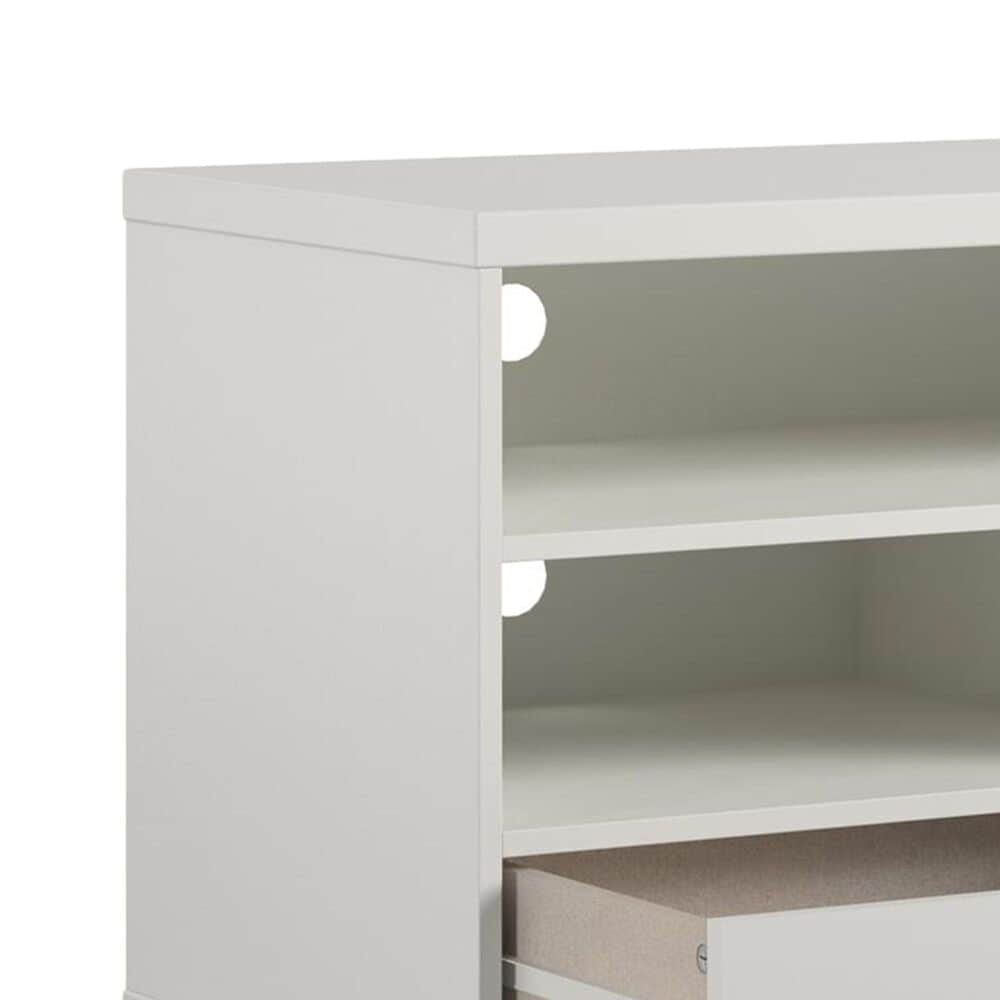 """DHP Ashton 65"""" TV Stand with Fireplace in White, , large"""
