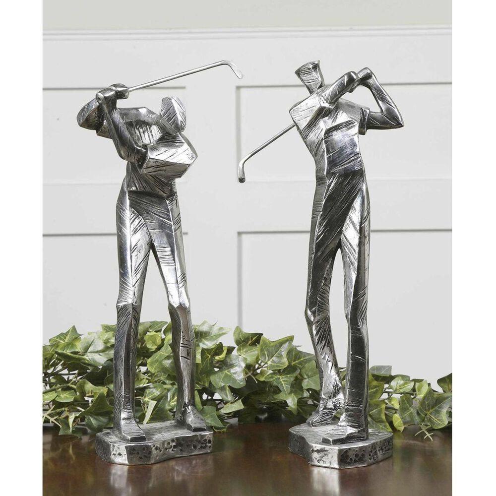Uttermost Practice Shot Metallic Statues (Set of 2), , large