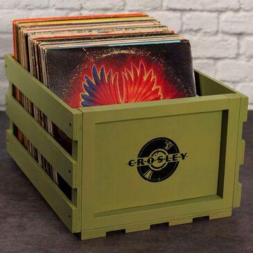 Crosley Furniture Record Storage Crate in Sage, , large