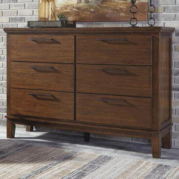 Signature Design by Ashley Ralene 6 Drawer Dresser in Medium Brown, , large