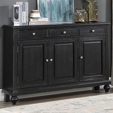 Shell Island Furniture 3-Drawer 3-Door Credenza in Raven Black Rub, , large