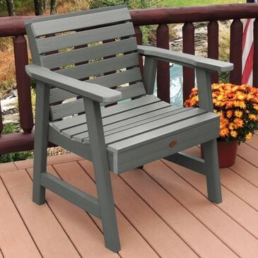 Highwood USA Weatherly Garden Chair in Coastal Teak, , large