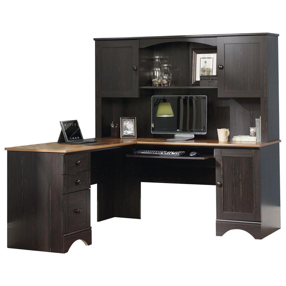 Nineteen37 Harbor View Corner Desk and Hutch in Antiqued Black, , large