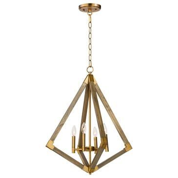 "Maxim Lighting Vector 24"" Pendant in Antique Brass and Weathered Oak, , large"