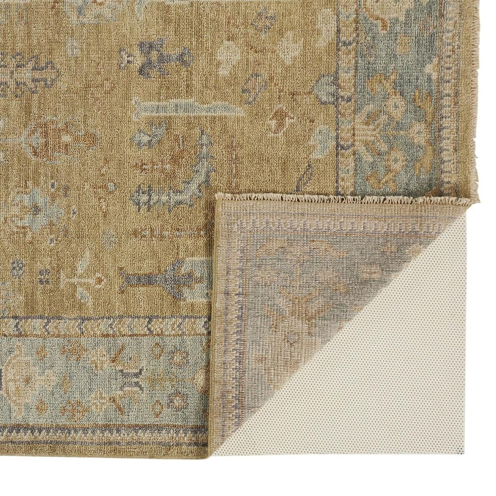 """Feizy Rugs Carrington 6501F 7'9"""" x 9'9"""" Gold and Light Blue Area Rug, , large"""