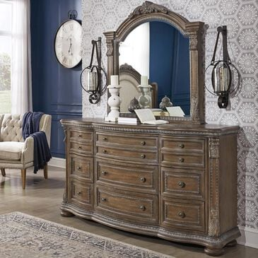 Signature Design by Ashley Charmond Dresser and Mirror in Brown, , large