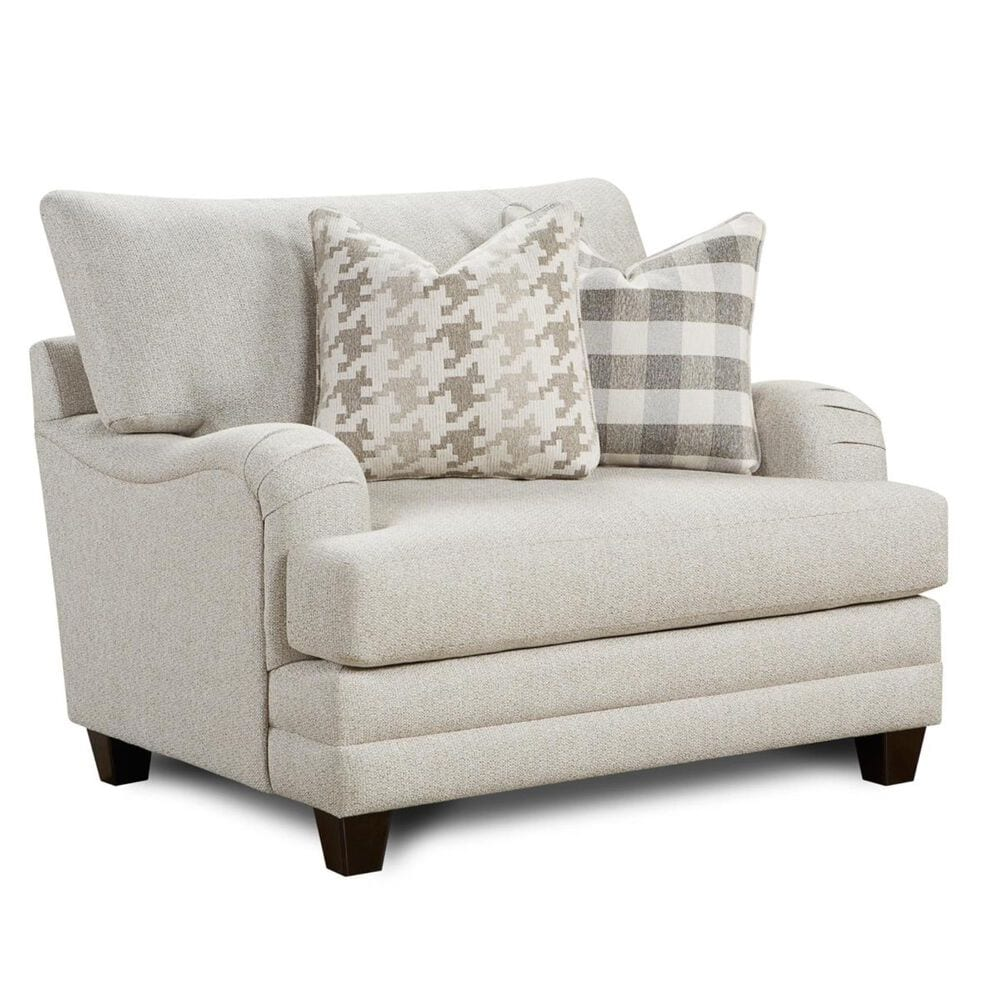 Xenia Chair and a Half in Basic Wool , , large