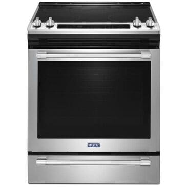 Maytag 6.4 Cu. Ft. Slide-In Electric Range With True Convection And Fit System in Stainless Steel , , large