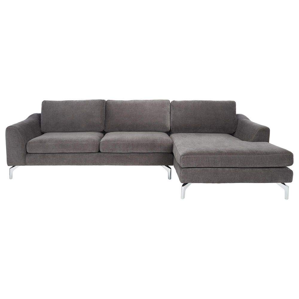 Safavieh Nicholson Sofa in Anthracite Grey, , large