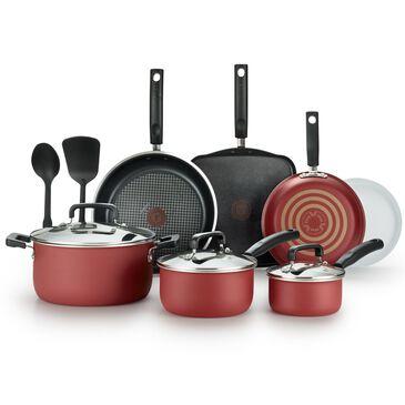 T-Fal Signature 12 Piece Cookware Titanium Nonstick Set in Red , , large