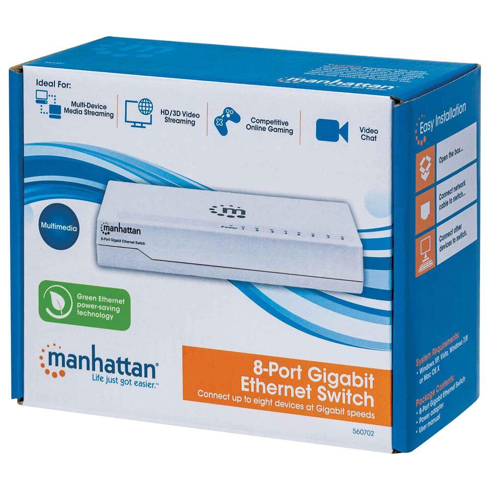Manhattan 8 Port Desktop Gigabit Ethernet Switch in White, , large