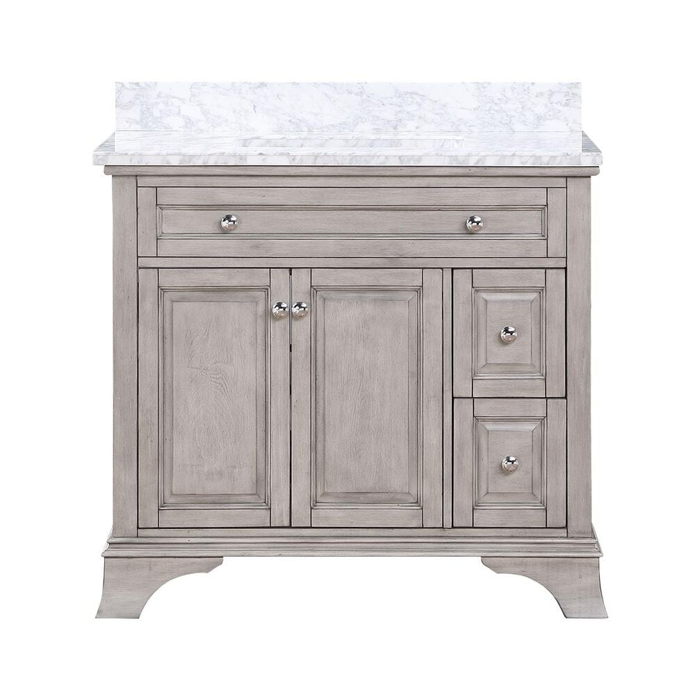 """Aurafina Wainwright 36"""" Vanity with Top and Sink in Old Harbor Gray, , large"""