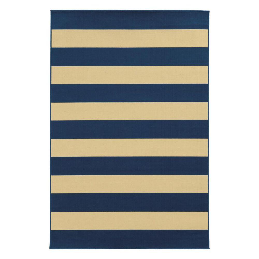 "Oriental Weavers Riviera 4768F 6""7"" x 9""6"" Navy Area Rug, , large"