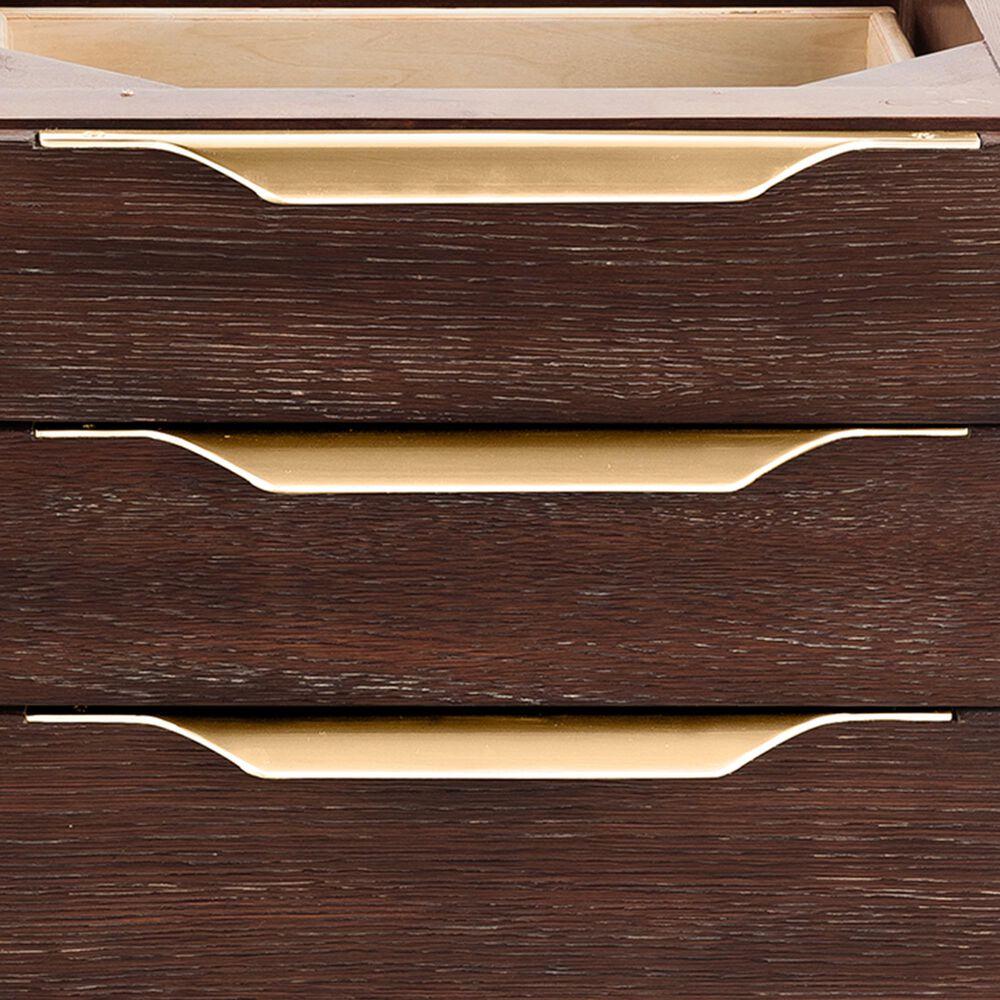 James Martin Mercer Island 36'' Single Bathroom Vanity Cabinet in Coffee Oak with Brushed Gold Hardware, , large