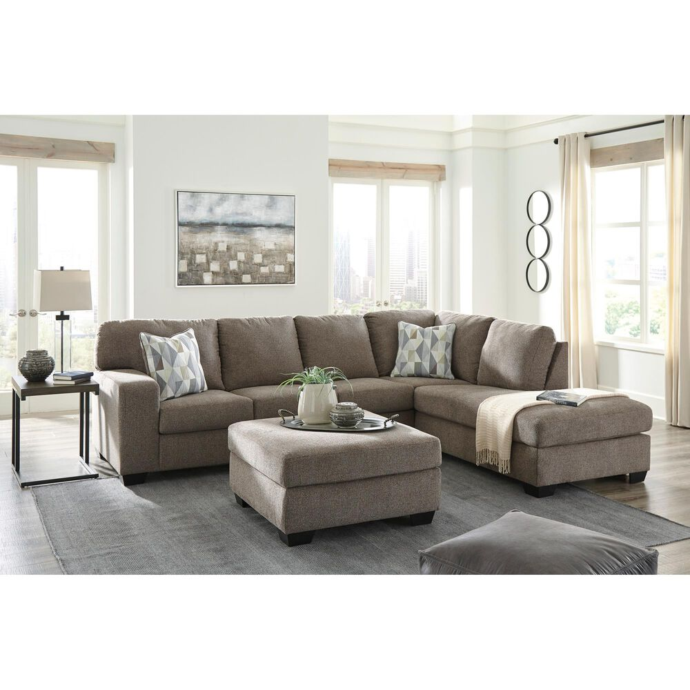 Signature Design by Ashley Dalhart 2-Piece Stationary Right Arm Facing Sectional in Hickory, , large