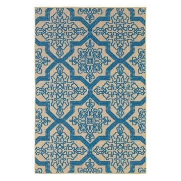 "Oriental Weavers Cayman 2541M 3'10"" x 5'5"" Sand/Blue Area Rug, , large"