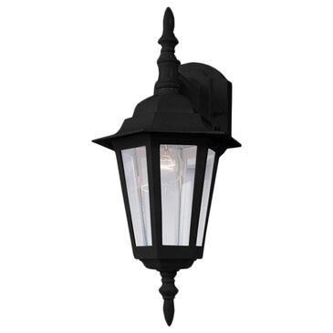 "Maxim Lighting Builder Cast 4.25"" HCO 1-Light Outdoor Wall Mount in Black, , large"