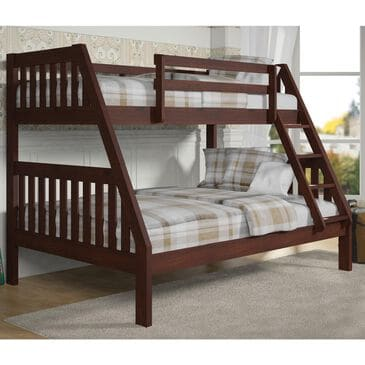 Little Dreamer Twin over Full Bunk Bed in Dark Cappuccino, , large