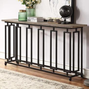 Shell Island Furniture Console Table in Sherwood Aged Brown, , large
