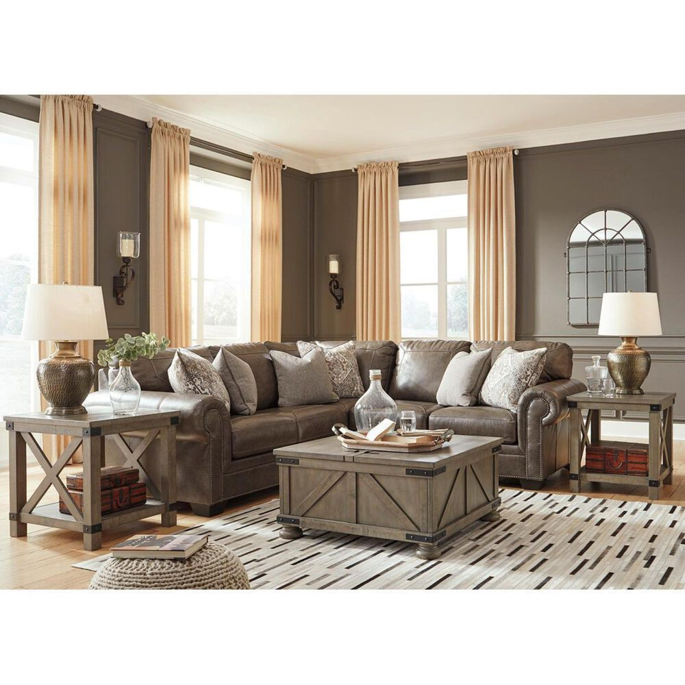Signature Design by Ashley Roleson 2-Piece Symmetrical Sectional in Quarry, , large
