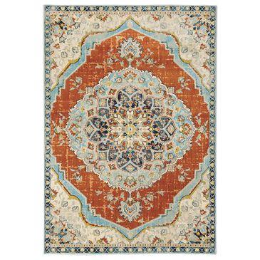 """Oriental Weavers Xanadu Medallion 1332Q 9'10"""" x 12'10"""" Orange Area Rug, , large"""