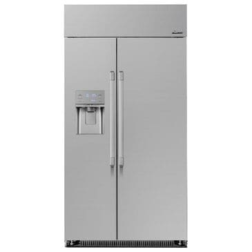"Dacor Heritage 42"" Built-In Side-by-Side Refrigerator in Silver Stainless Steel, , large"