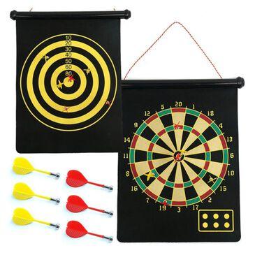 Timberlake Magnetic Roll-Up Dart Board Set, , large