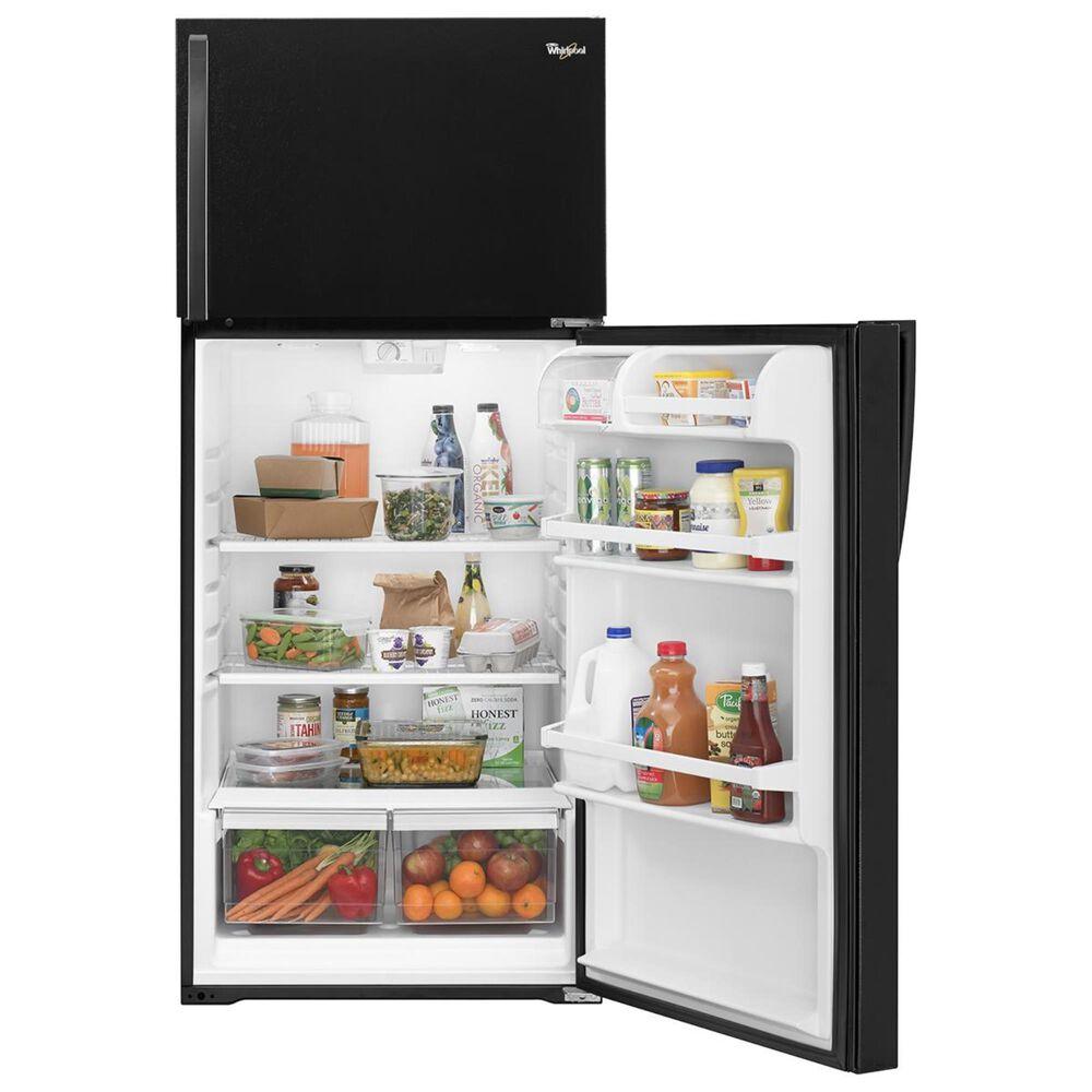 Whirlpool 14.3 Cu. Ft. Top Freezer Refrigerator in Black, , large