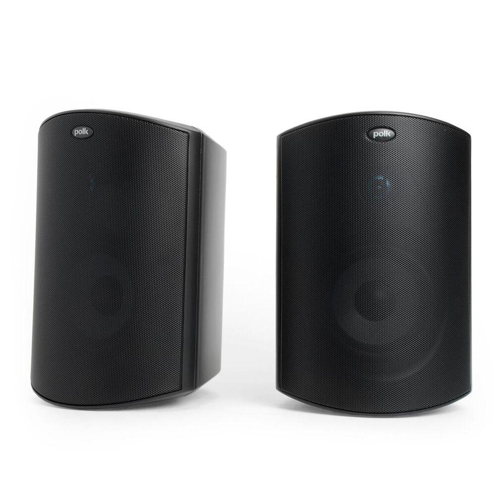 Polk All Weather Outdoor Speakers Black (Pair), Black, large