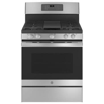 """GE Appliances 30"""" Freestanding Gas Range with Convection in Stainless Steel, , large"""