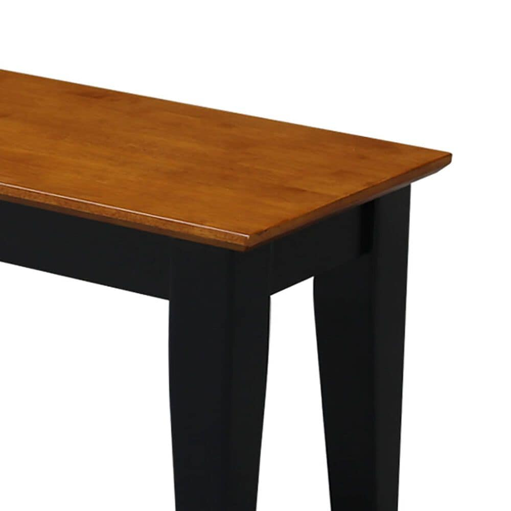 International Concepts Shaker Bench in Black/Cherry, , large