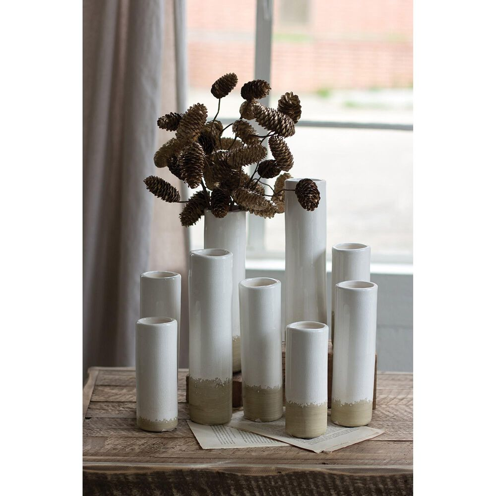 Kalalou Bud Vase in White (Set of 9), , large