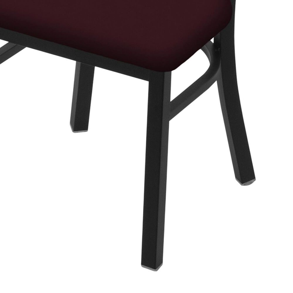 """Holland Bar Stool 620 Catalina 18"""" Chair with Black Wrinkle and Canter Bordeaux Seat, , large"""