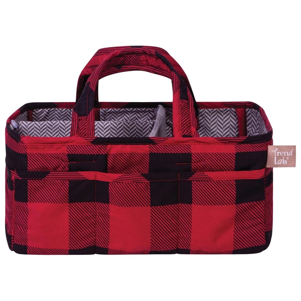 Trend Labs Buffalo Check Storage Caddy in Red, , large